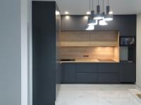 Угловая кухня Стиль из крашеного МДФ и ДСП Egger