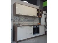 Кухня из глянцевого акрила Senosan и скинали с фотопечатью Albico