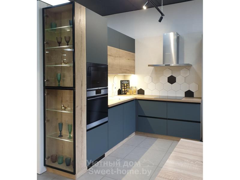 Угловая кухня Модерн из Fenix и ДСП Egger