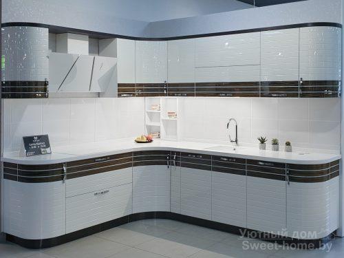 Кухня Tempo Linea из МДФ с комбинированным покрытием